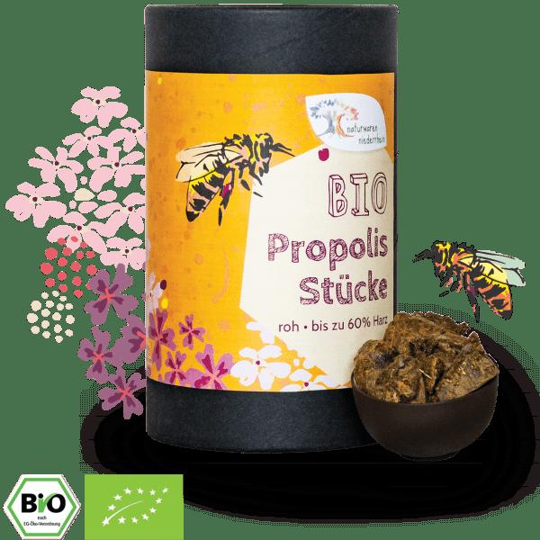Bio Propolis Stücke, roh - Premiumqualität