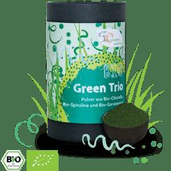 Bio Green Trio - Chlorella, Spirulina & Gerstengras - Pulver