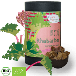 Bio Rhabarber in Stücken - kandiert, herrlich süß-sauer